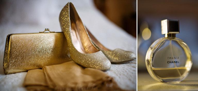 elegant gold details at a Kitchener wedding