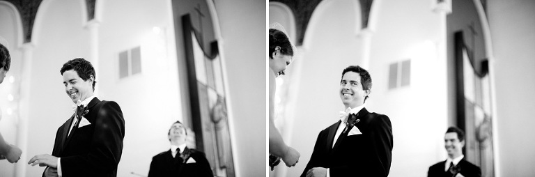 funny moment during the ring ceremony as shot by Kitchener, Ontario wedding photojournalist