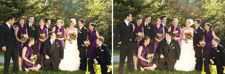 fun wedding party portrait in Kitchener, Ontario