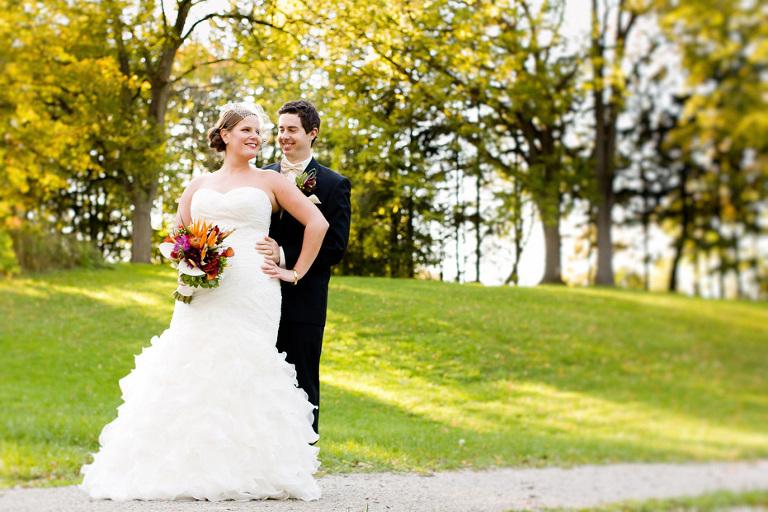 Fashion-inspired wedding portrait by modern wedding photographer in Kitchener