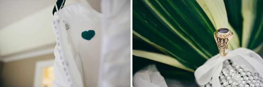 Details in memory of the bride's father photographed by Toronto wedding photographer.