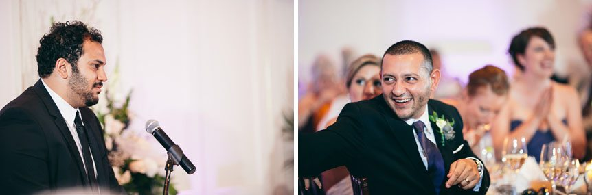 Candid moments at a Langdon Hall wedding as photographed by Toronto wedding photographer.