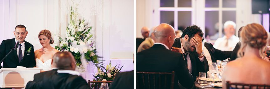 Funny candid moments at a Langdon Hall wedding as photographed by Toronto wedding photographer.