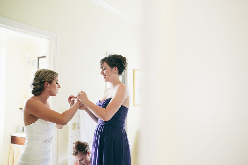 Toronto wedding photographer captures the bride as she gets ready before her Langdon Hall outdoor wedding.