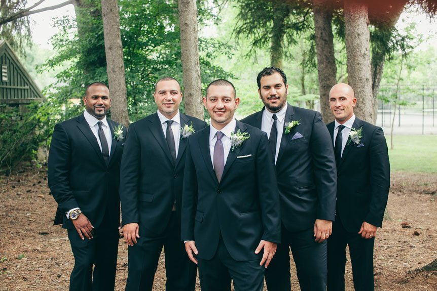 The groom and his groomsmen before their Langdon Hall outdoor wedding ceremony.