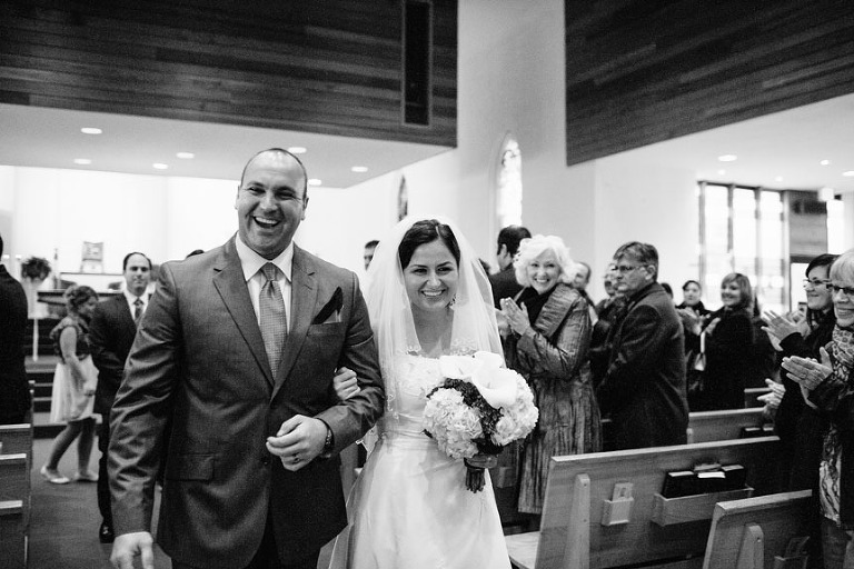 Kitchener documentary wedding photographer captures the bride and groom right after their wedding ceremony.