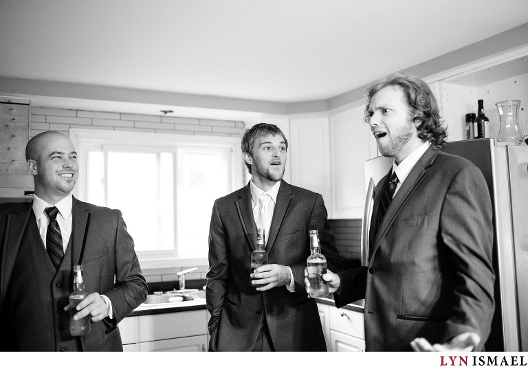 A funny moment when the best man tells a story about the groom.