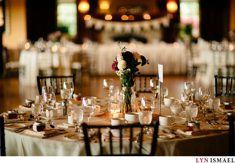 Cutten Fields beautifully decorated for a wedding