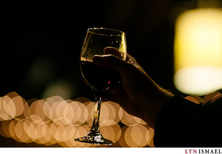 Wine glass and bokeh.