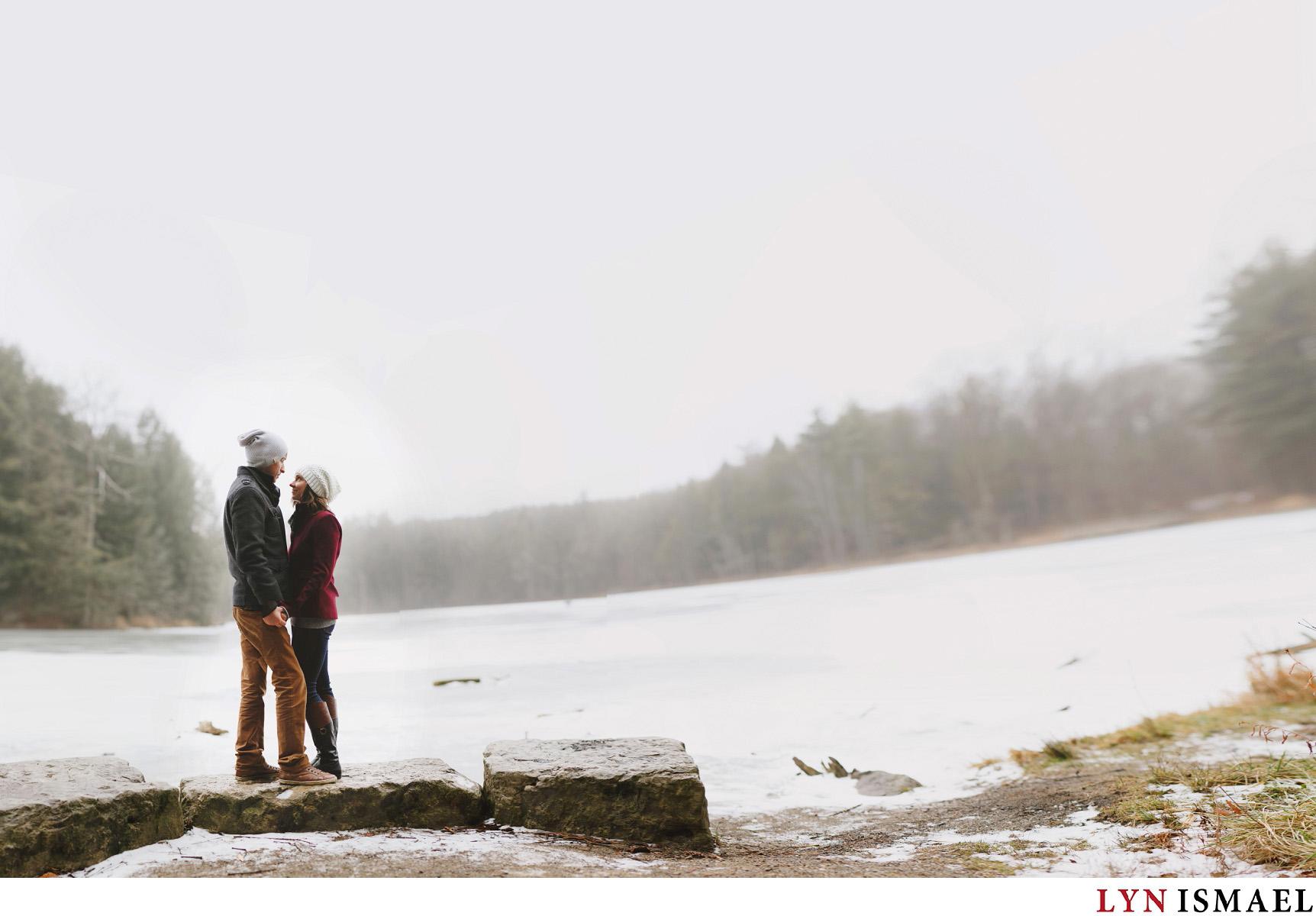 Winter Woodland Engagement Session | Kayla and Nick