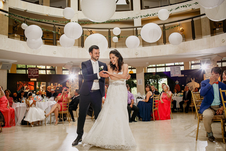 Bride And Groom S First Dance At Their Columbus Event Centre Wedding Reception