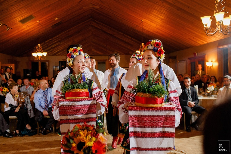 Ukrainian dancers at a wedding at the Waterstone Estate and Farms in Newmarket, Ontario.