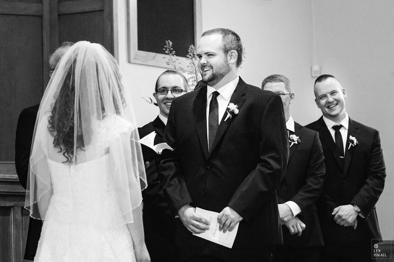 Wedding ceremony at the Kitchener Mennonite Brethren Church