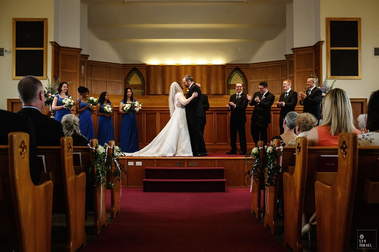 Wedding at the Kitchener Mennonite Brethren Church