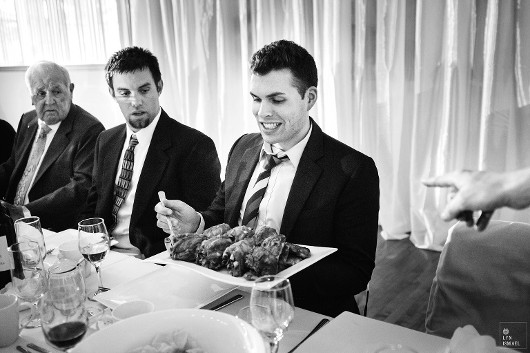 Guests get fed huge portions at a wedding in Wellesley, Ontario.