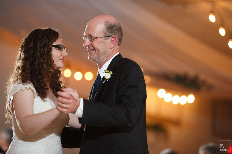 Father and daughter dance at Wellesley, Ontario